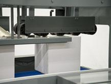 NO-CRUSH Compression Rollers provide Secure Adhesive Sealing and Square Cases