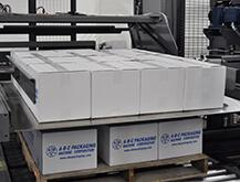 Features to ensure efficient case transport to palletizing