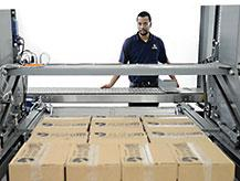 Square layers palletize into high quality pallet loads