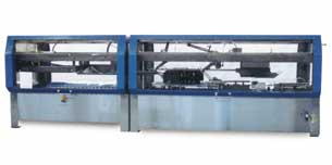 Tablock slitting and case sealing on drop pack bottling lines is simplified