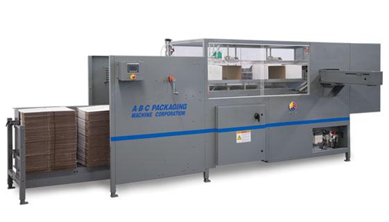 Adhesive case erector/ bottom sealer for midrange packaging