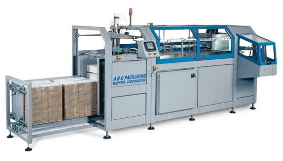 Case erector adhesive sealing to 50 cases per minute
