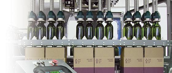 Case packers, robotic and no drop bottle packers