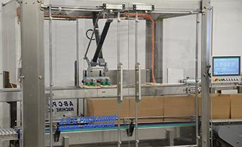 Robotic case packer for flexible packages gentle handling