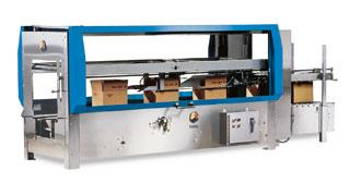 Adhesive top and bottom case sealer 5-50 cpm