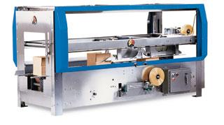 Tape top and bottom case sealer 5-50 cases per minute