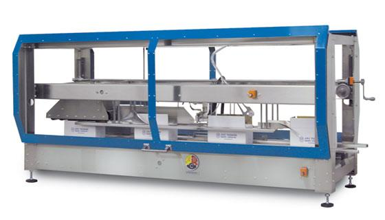 Top case sealer for adhesive sealing to 75 cpm