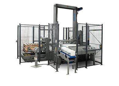 Low level palletizer for cases, trays or totes