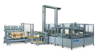 High speed palletizer for cases, trays or totes with high or low level infeed