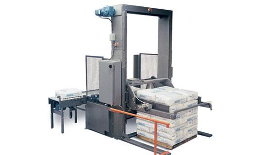 Semi automatic palletizer for heavy bags