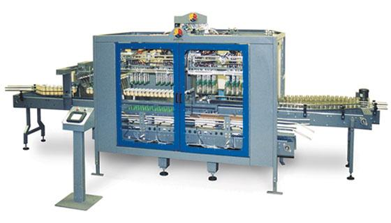 Uncaser and case packer for bottles